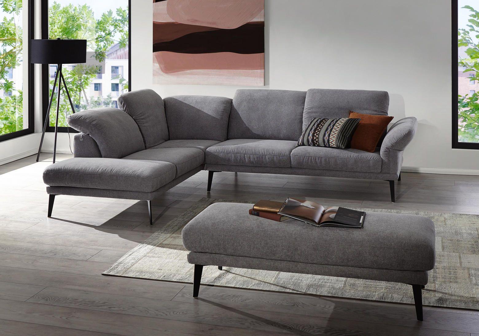 Moderne Couch In Grau Mit Fussen Aus Metall Mobel Sofa Sofa