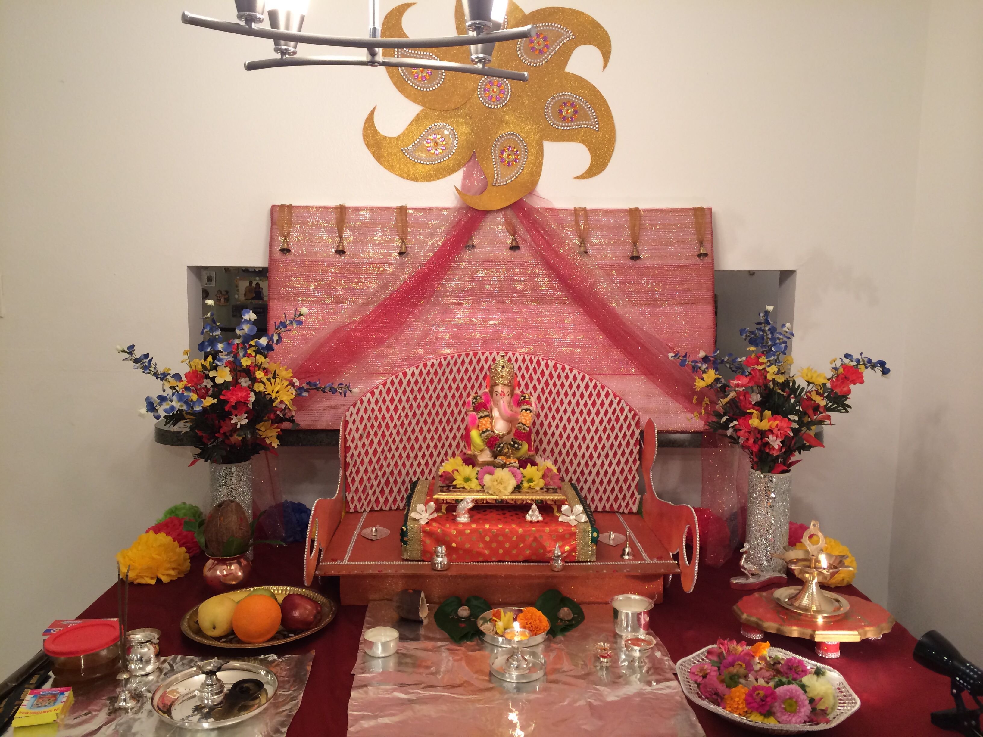 Ganesh Chaturthi Decoration At Home Decoration For Ganpati