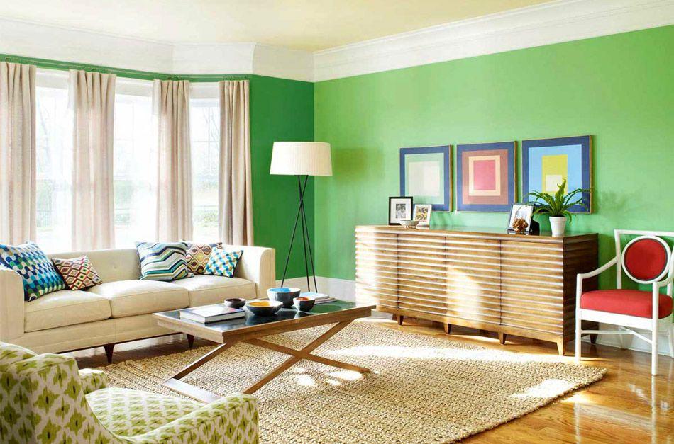 16 Paredes de dos colores para sala
