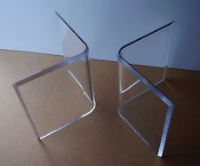 Acrylic V S Or Boomerang Coffee Tail Table Bases 2 Lucite Contemporary