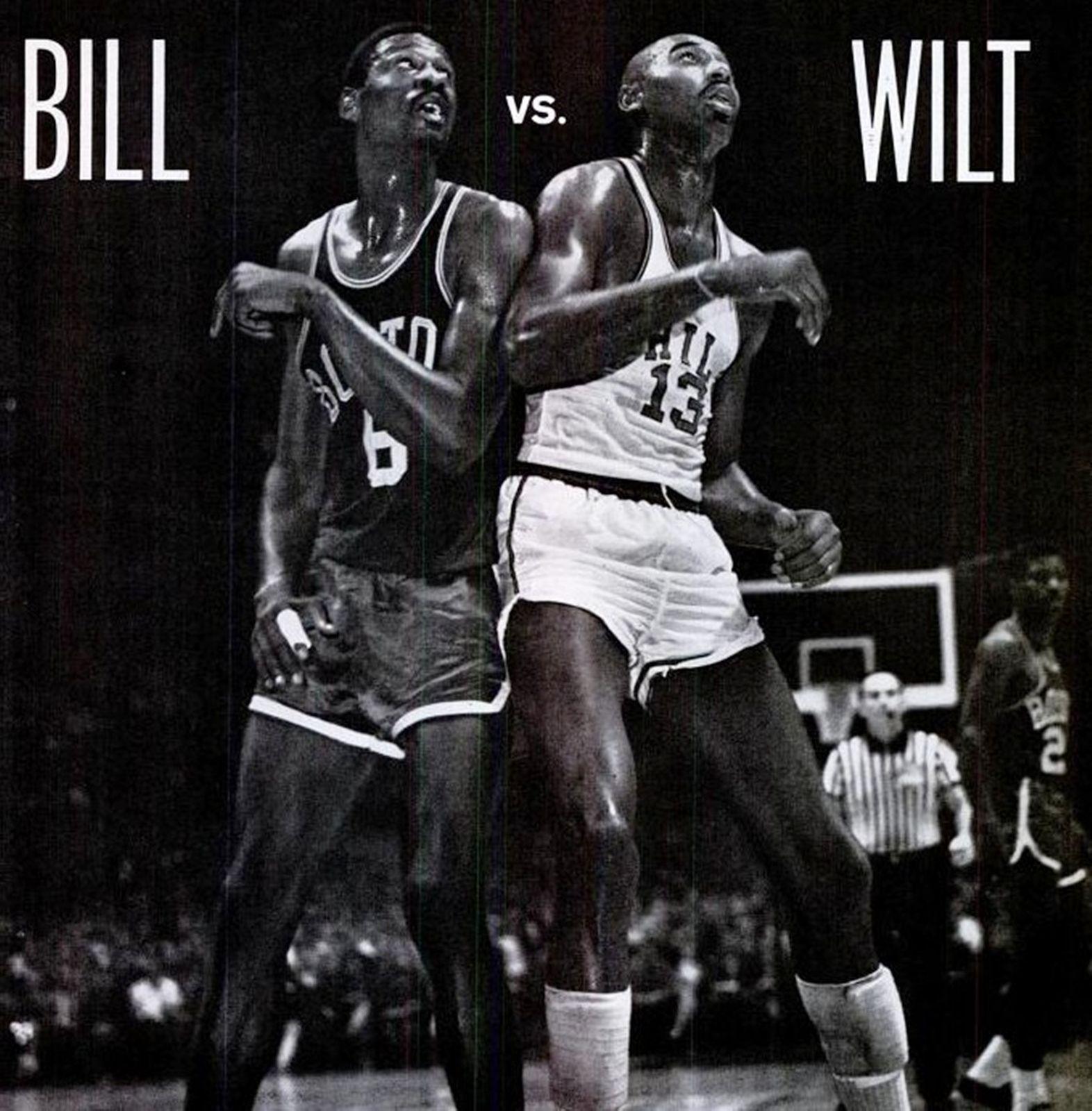 Bill Russell and Wilt Chamberlain Basketball Sports