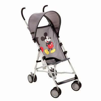 Disney Baby I Heart Mickey Umbrella Stroller with Canopy ...