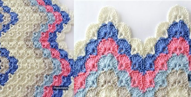 crocheted ripple shell stitch | the crochet space | 2 Crochet ...