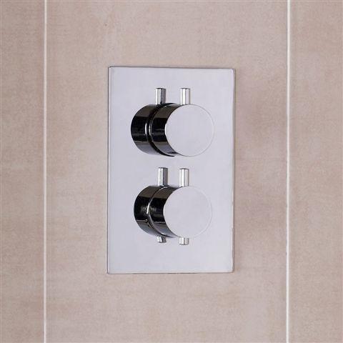 Emeline Round Handles 2 Outlet Thermostatic Shower Valve Shower Valve Shower Bathroom