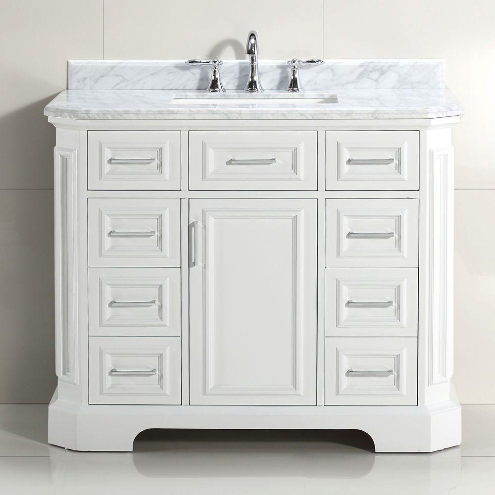 23++ Ariel hamlet 42 in white bathroom vanity cabinet type