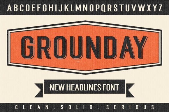 Grounday by Seniors on Creative Market #free #font