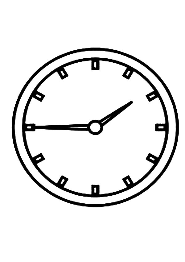 Analog Clock On The Wall Coloring Pages Bulk Color Clock Analog Clock Coloring Pages