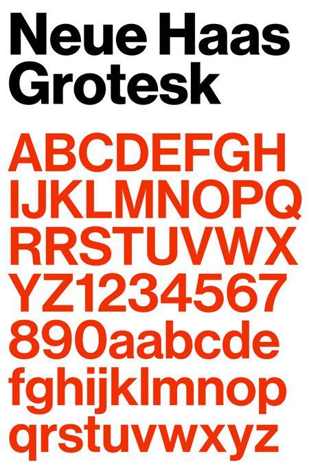 typographie helvetica neue