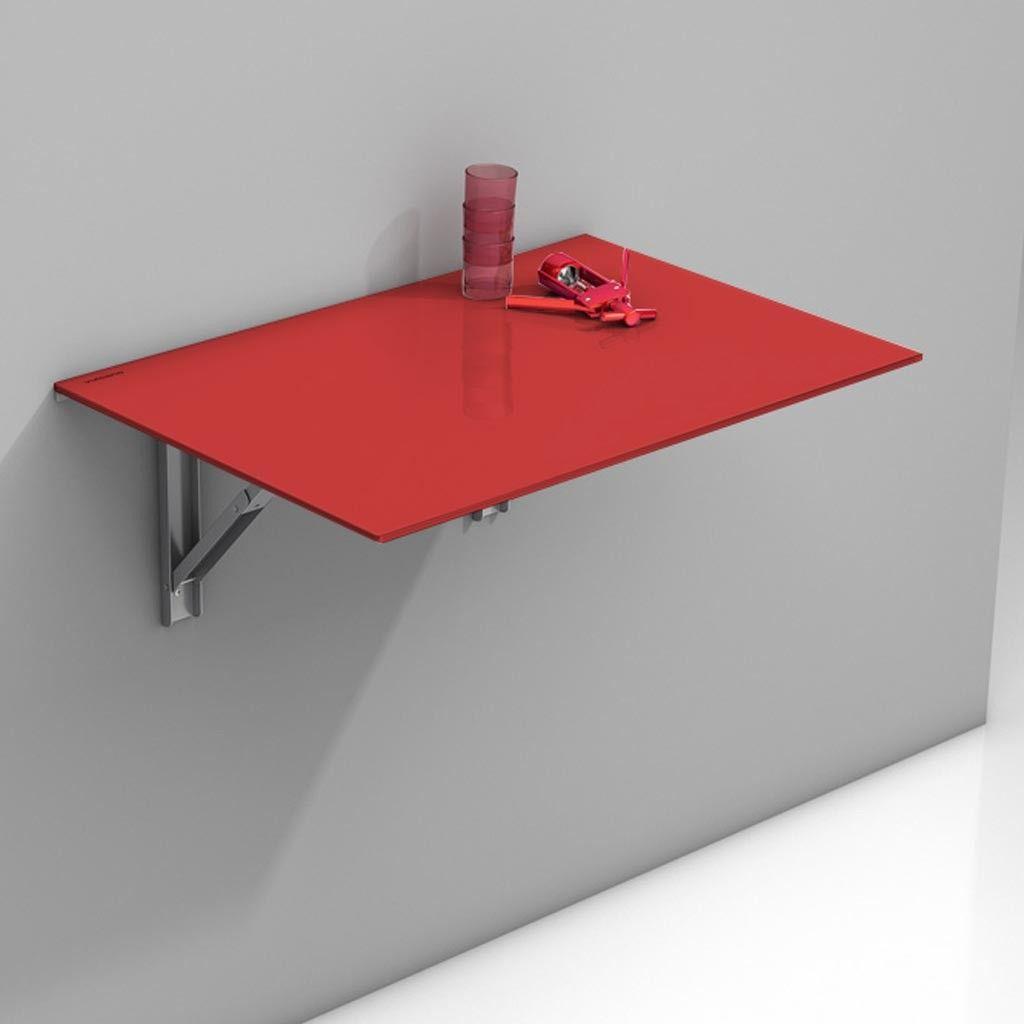 Mesa plegable de cocina Vulcano con sobre de cristal en ...