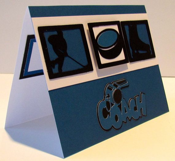 ICE HOCKEY Thank You COACH Card Blue and by CardsAndMoreShop - hockey coach sample resume