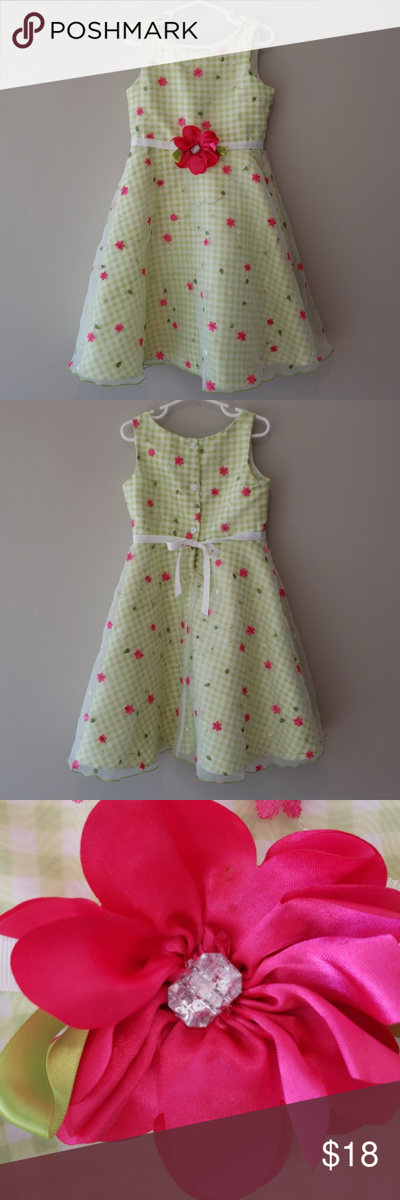 Kidsgingham dress with floral overlay in my posh picks