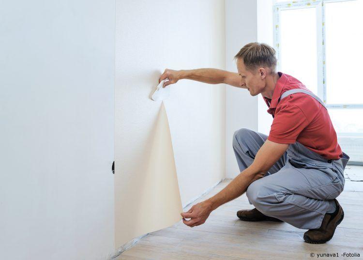 Wandgestaltung Anleitung zum Tapezieren Heimwerken Pinterest - tapezieren fenster