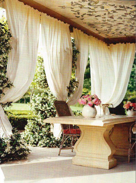 Pin de Julie Abrams en Outdoor Living Pinterest Terrazas - cortinas para terrazas
