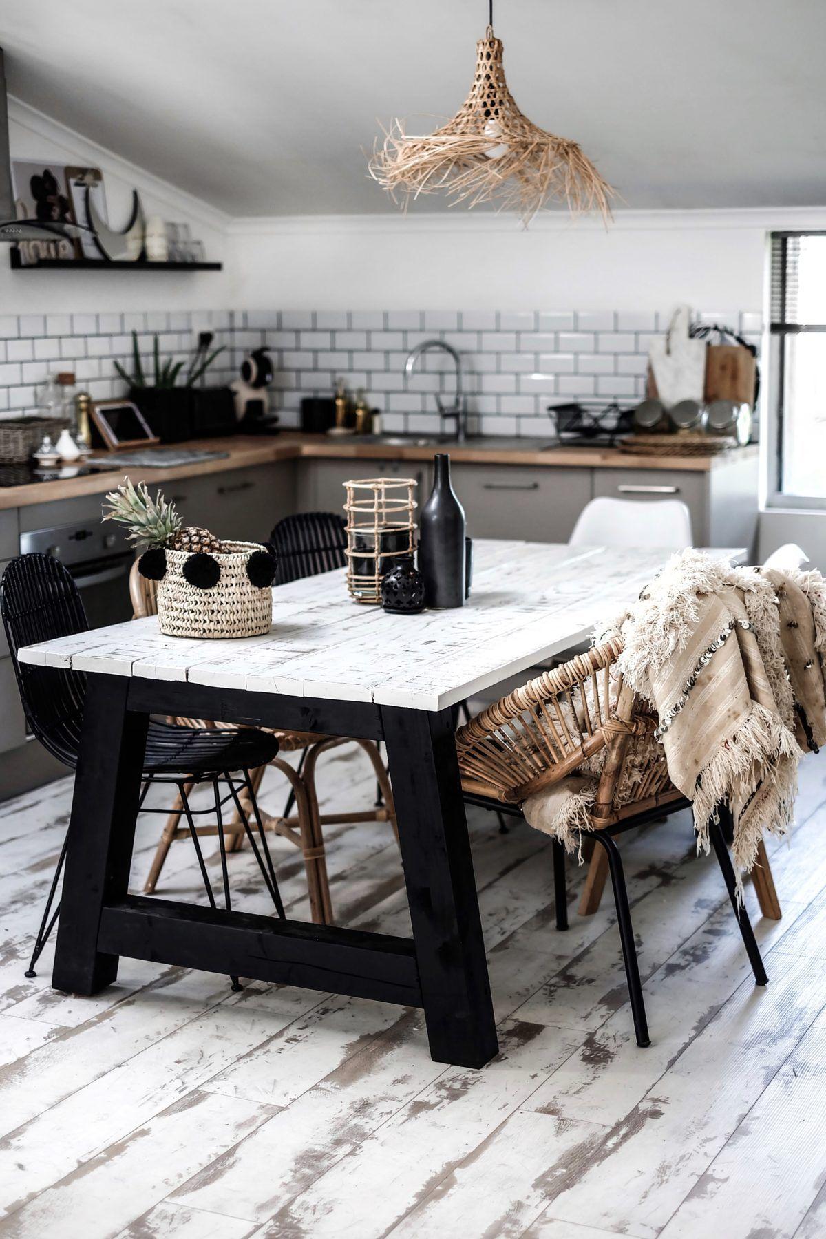Great Idee Deco Table De Cuisine En Bois