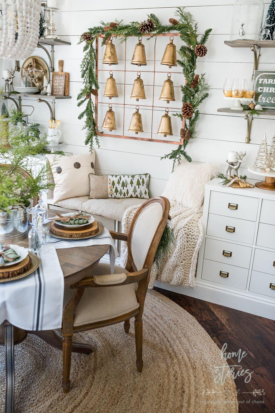 farmhouse christmas tips on how to affordably decorate christmas shelves farmhouse christmas on farmhouse kitchen xmas id=79787