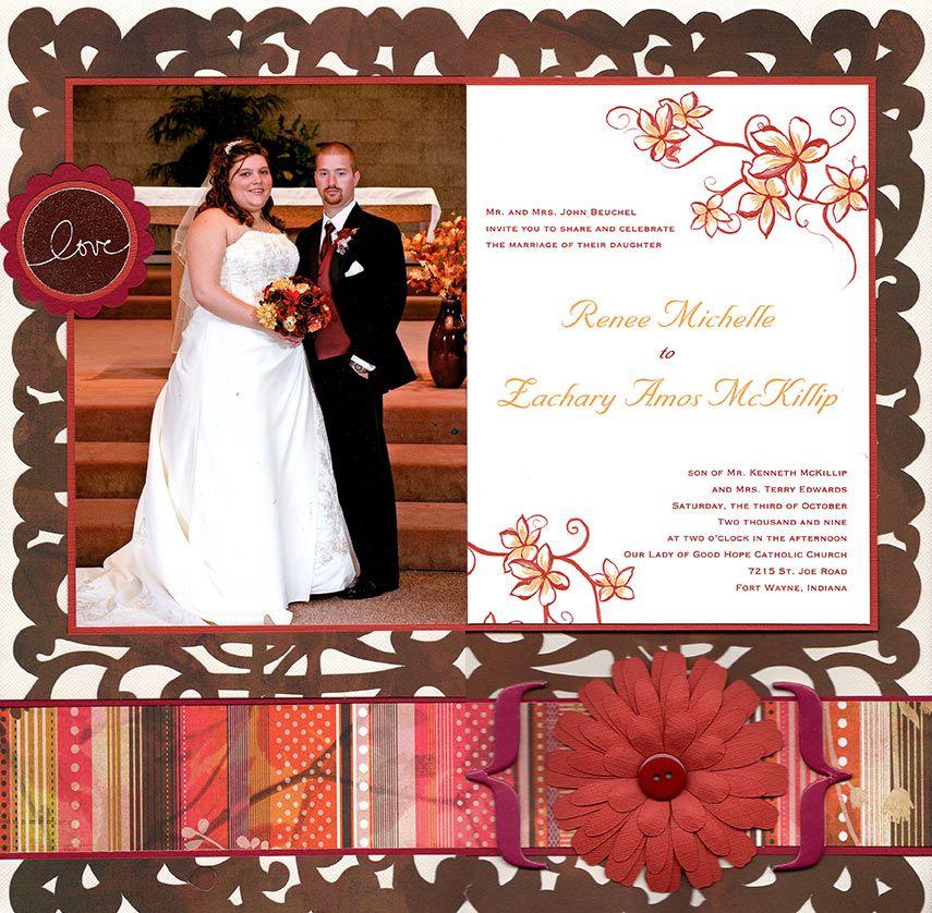 Wedding Album Title Page Wedding Scrapbook Pages Wedding Scrapbook Wedding Scrapbooking Layouts