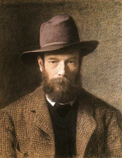 Otto Scholderer, Self-portrait, 1885-86. (German, 1834-1902)