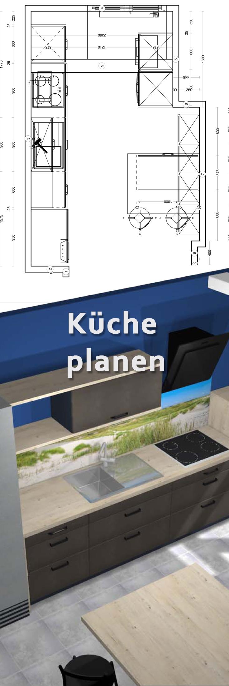 Wir planen Ihre Küche und begleiten Sie bei Ihrer Küchenplanung ...