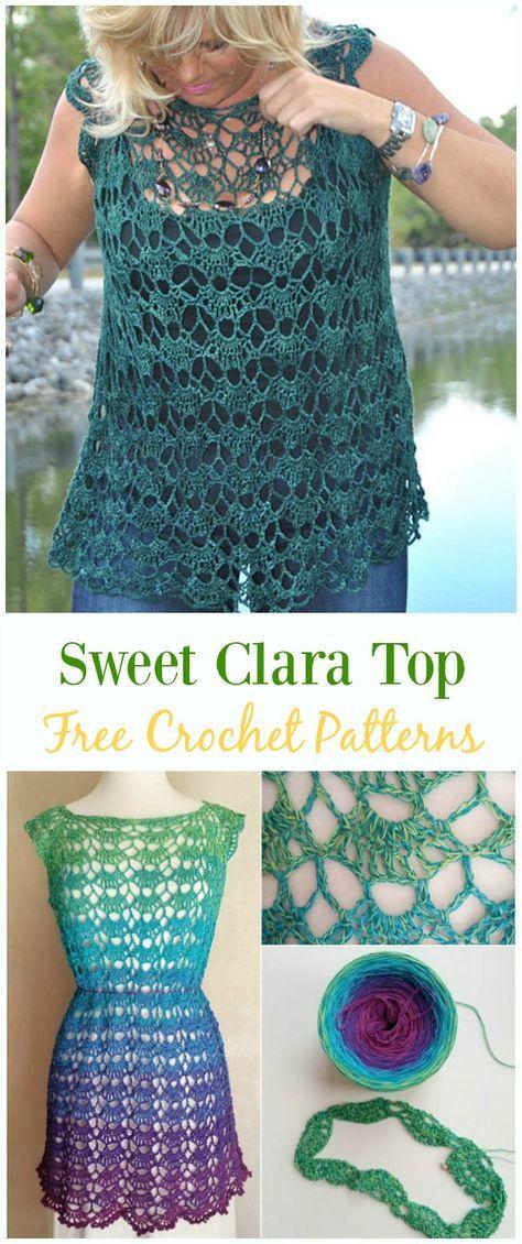 Crochet Sweet Clara Top Free Pattern Video Crochet Summer Top Free