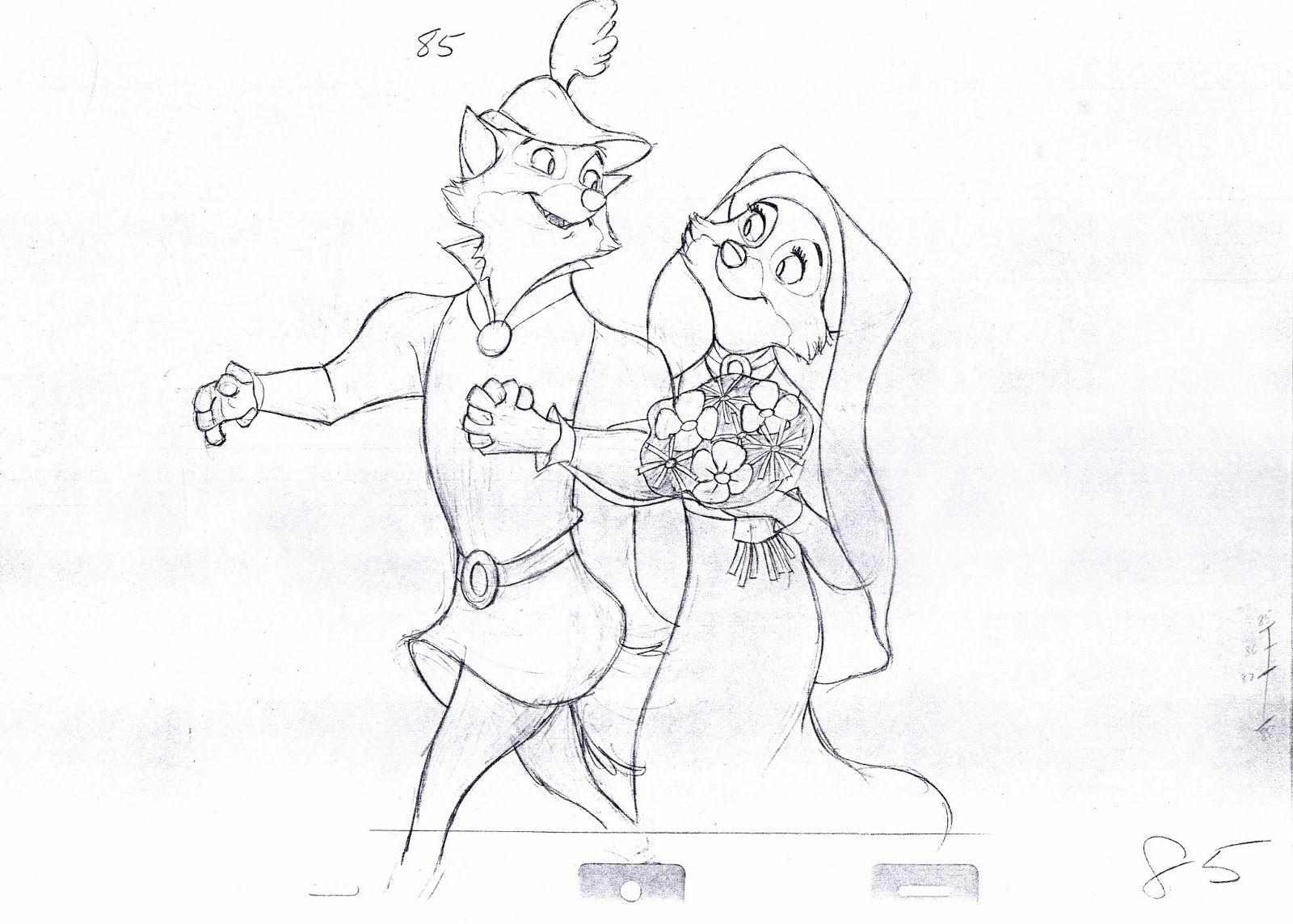 Disney Robin Hood: Production Production Drawing: Original