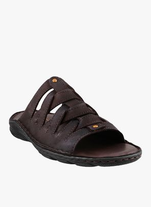 Shop Mochi Brown Slippers online at