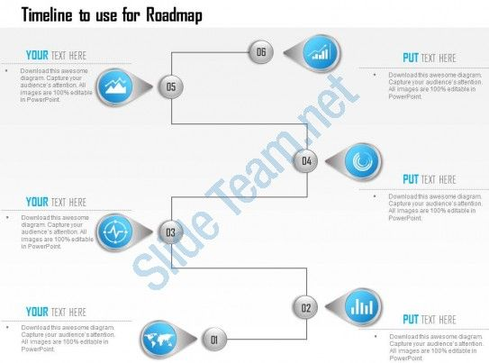 Infographic Template Showing Timeline To Use For Roadmap Ppt