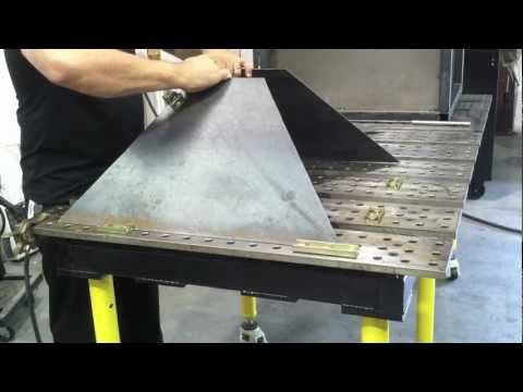 Awesome Plasma Cutting Table Diy Downdraft Table Using Stronghand Home Interior And Landscaping Elinuenasavecom