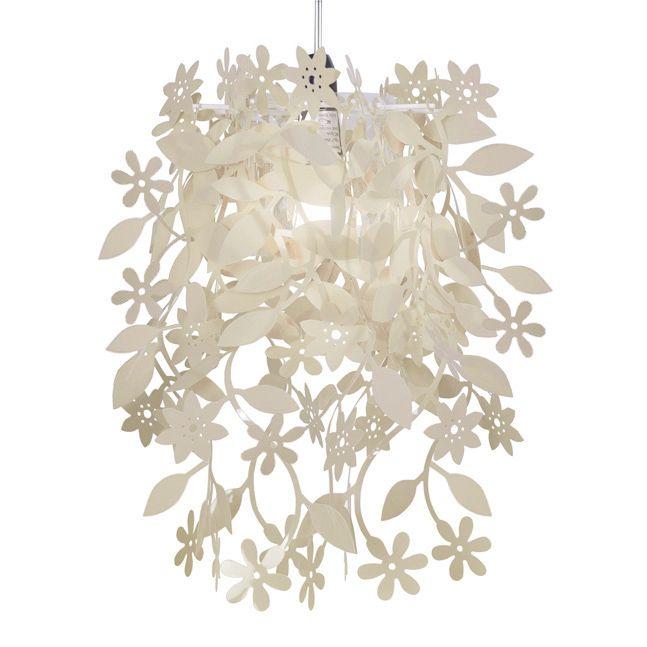 Modern Cream Leaf Flower Garland Ceiling Pendant Light Lamp Shade Chandelier Pendant Light Shades Ceiling Pendant Lights Ceiling Light Shades