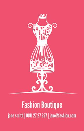 Business Card Design Fashion Boutique Available To Personalise On Our Design Online System