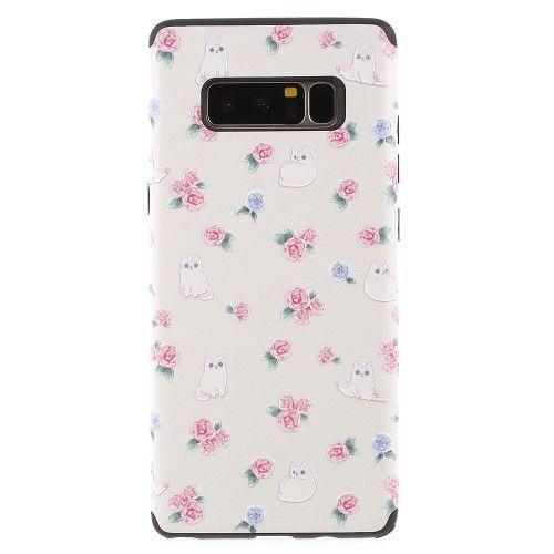 Coque Samsung Galaxy Note 8 Chats Et Fleurs Samsung Galaxy Note 8 Galaxy Note Samsung Cases
