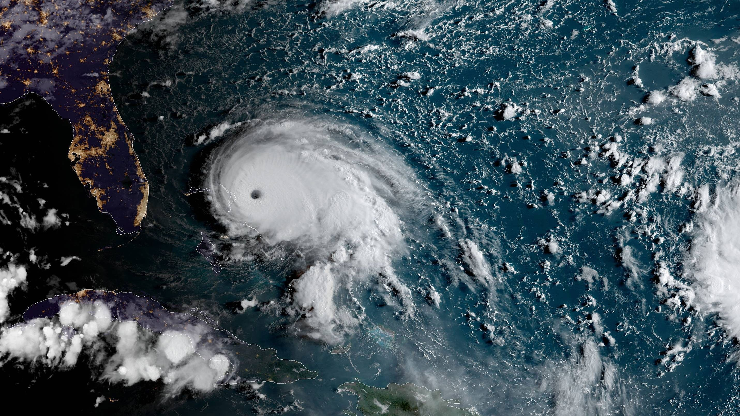 Hurricane Dorian Now A Category 5 Storm Noaa Sunday Landfall Is Possible In The Islands Of The North Bahamas As A C Storm Surge Florida East Coast Bahamas