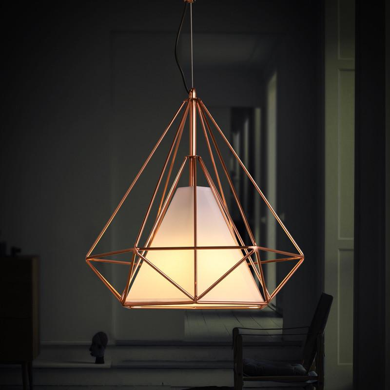 Best Copper Diamond Wire Cage Pendant Light In 2020 Cage 400 x 300