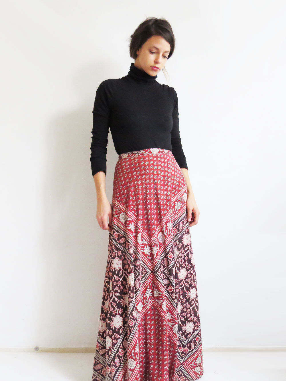 New Cotton Wrap Skirt 10 12 14 16 Hippy Indian Hippie Boho Peacock Floral
