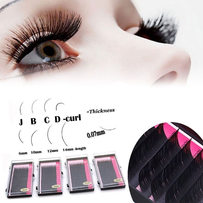 325c1829840 1.0AUD - 3D Volume Individual Blink Tray Lash 0.07Mm B C D J Curl False  Eyelash Extension #ebay #Fashion