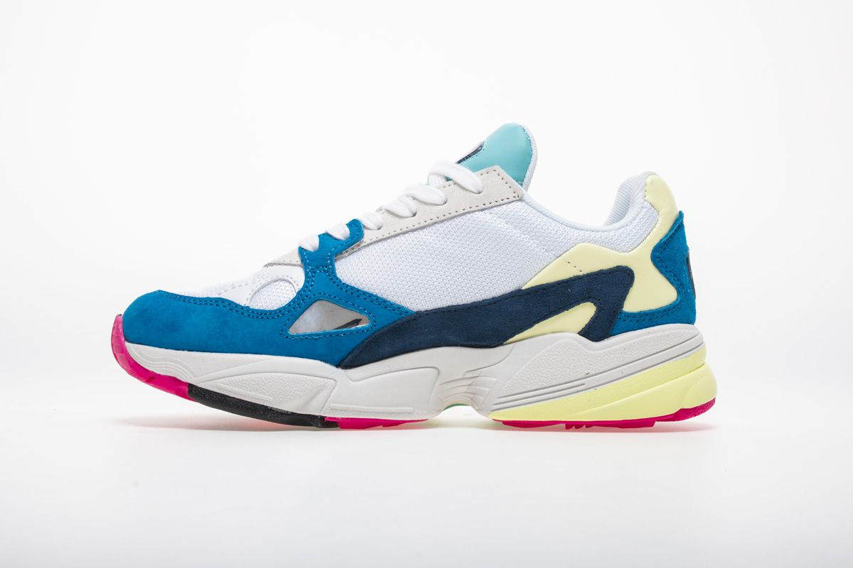 a7ad787085523 Adidas Falcon W YUNG-2 White Blue Yellow Sneaker BB9178 2