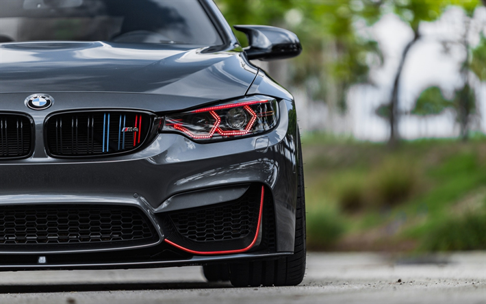 Download Wallpapers Bmw M4 Headlights F83 2018 Cars Supercars