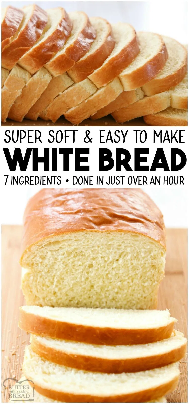 White Bread Recipe Is Made With Basic Ingredients Detailed Instructions Showing How To Make B Bread Recipes Homemade Easy White Bread Recipe Homemade Recipes
