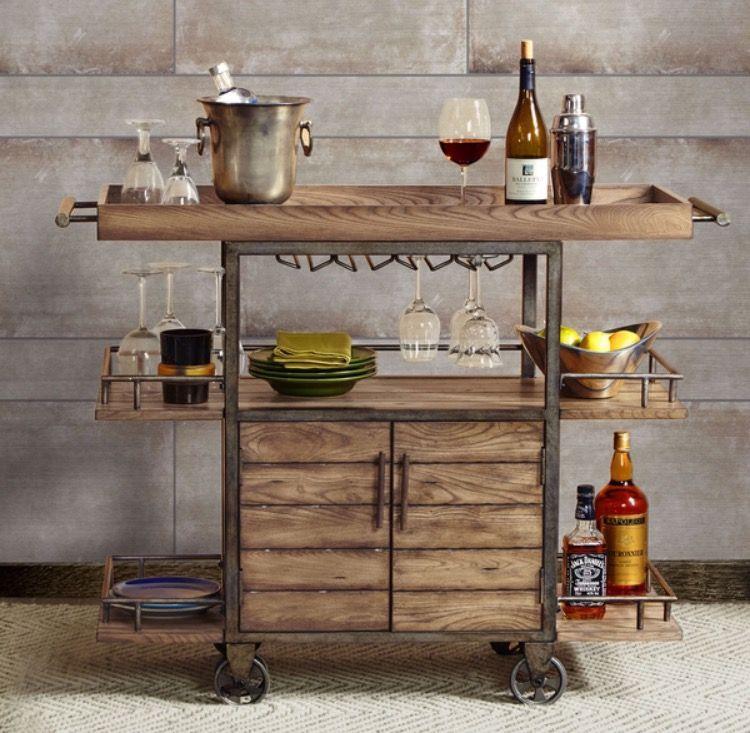 Pin de erica jacobson en bar cart pinterest bar for Bar movil de madera