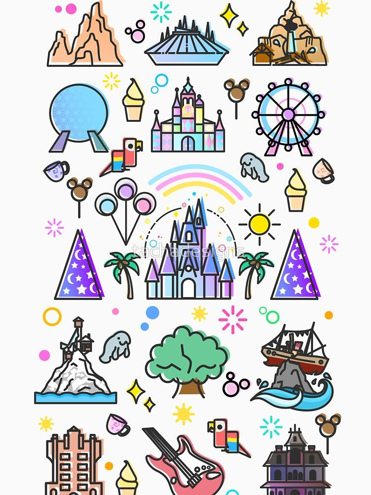 Meet me at my Happy Place Pattern. Happiest Place on Earth. Florida Orlando Icons. Ferris Wheel Theme Park. iphone 11 case