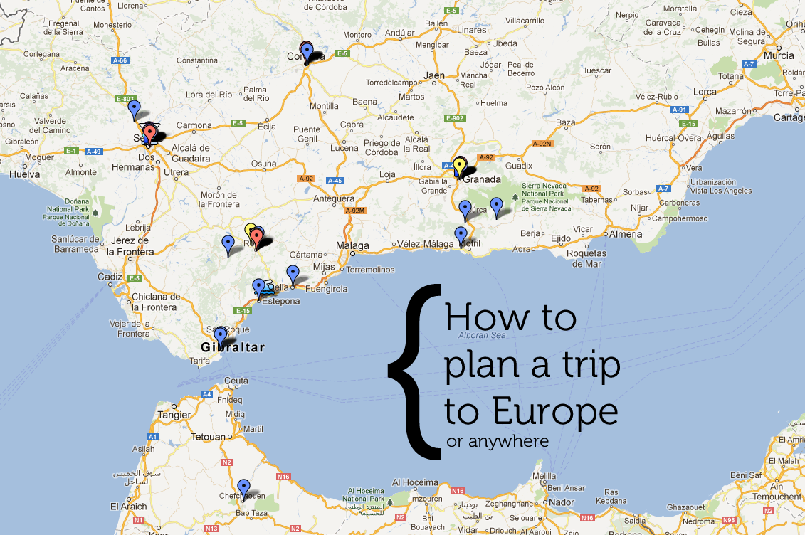 plan a trip to europe map How to plan a trip to Europe (or anywhere!) ⋆ Whitney & Erick