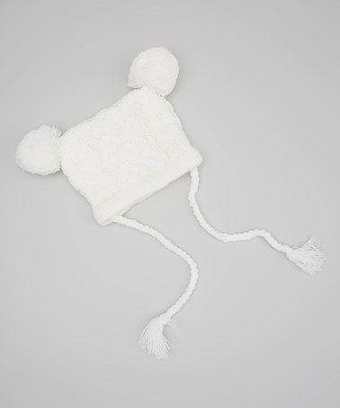 Look what I found on #zulily! Cream My Lil Bear Pom-Pom Beanie by Marili Jean #zulilyfinds
