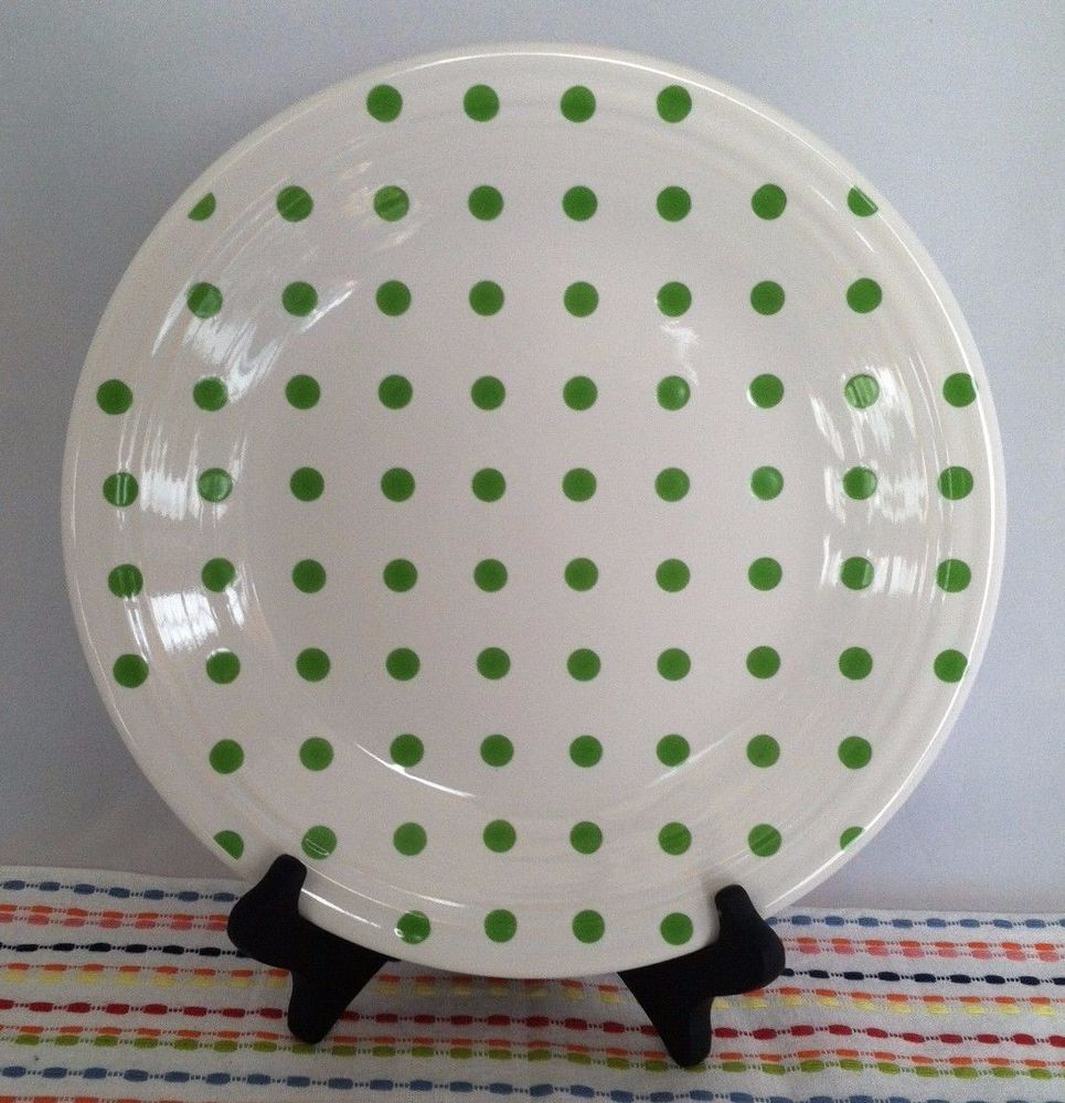 Contemporary Fiesta China u0026 Dinnerware | eBay. Dinner PlatesPolka ... & Fiesta White Shamrock Polka Dot Dinner Plate Fiestaware Exclusive ...