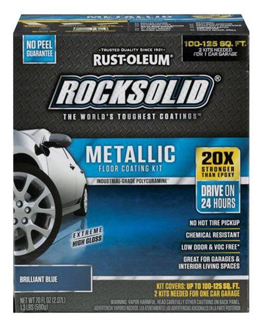 Rust Oleum 299745 Rocksolid Floor Coating Kit Gloss