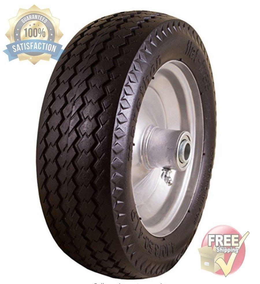 Replacement Wheel 10 Inch Airless No Flat Tires Hand Truck Garden Cart Free Ship Marathon Replacement Wheels Hand Trucks Flat Tire