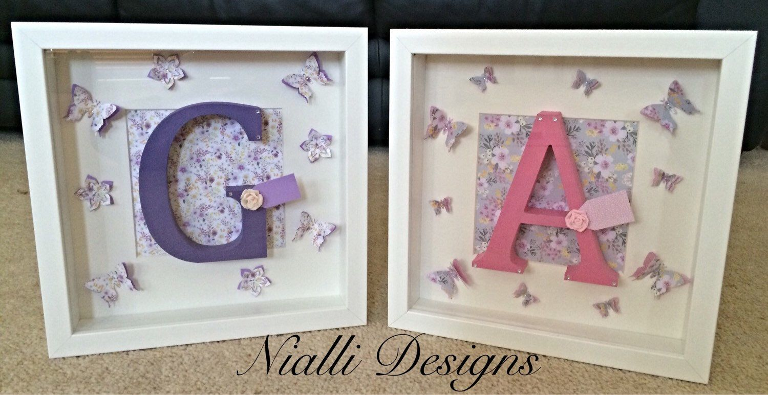 Initial Box Frames by NialliDesigns on Etsy https://www.etsy.com ...