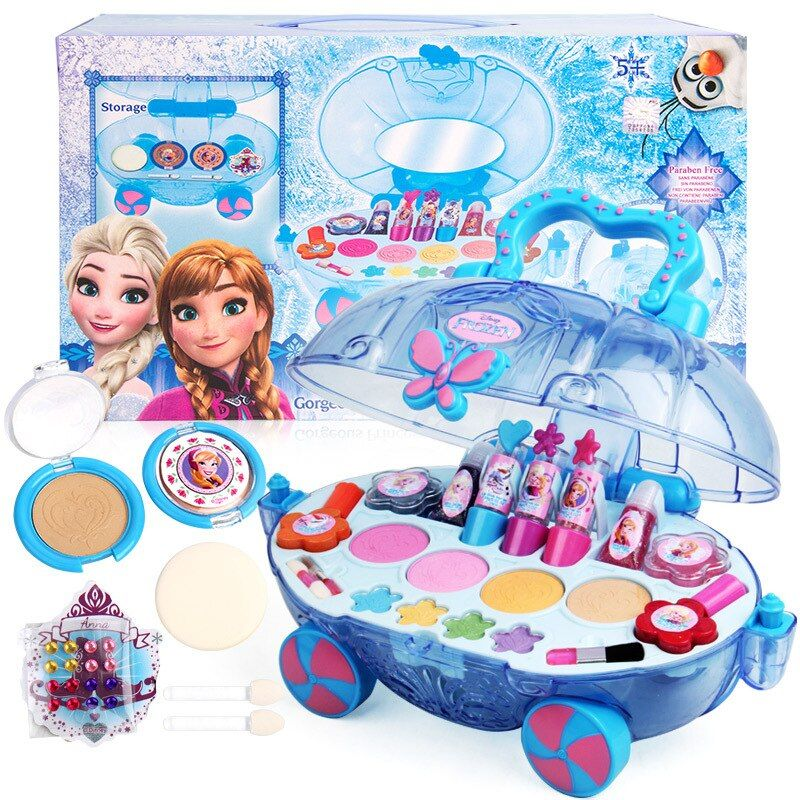 Limited Offer Disney 2018 Girls Princess Makeup Car Set Frozen Children Show House Makeup Box Safe In 2020 Disney Princess Toys Disney Princess Makeup Princess Toys