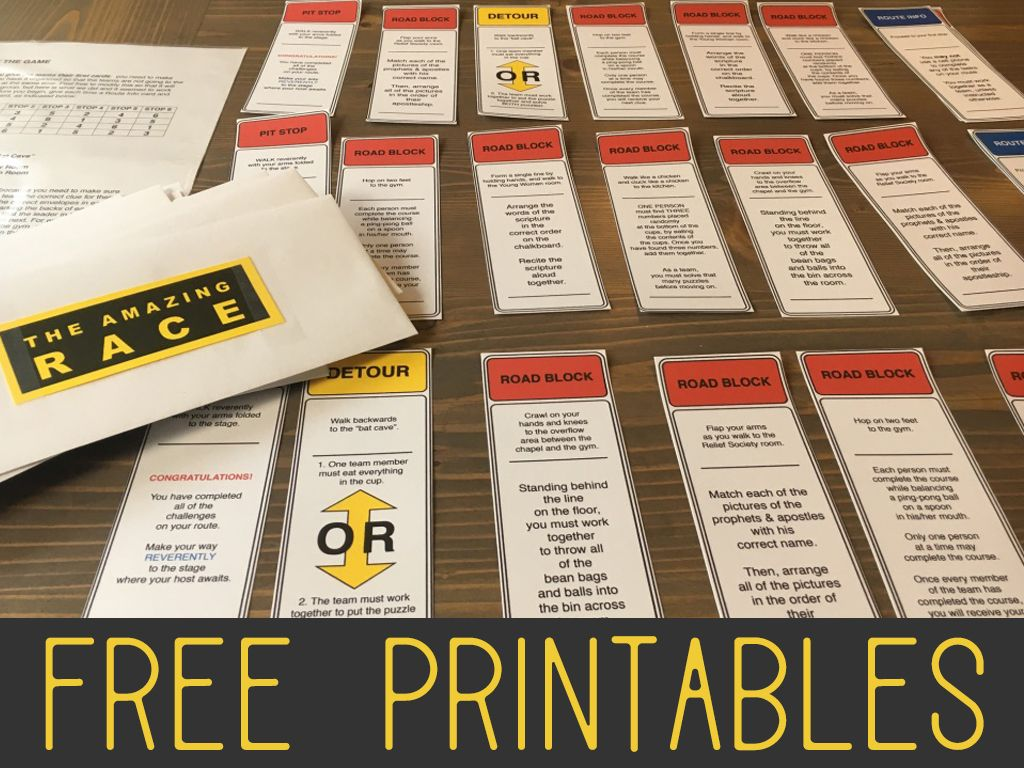 Amazing race ideas - The Amazing Race Game For A Lds Youth Combined Mutual Activity Free Printable And Complete Guide In Pdf Format Do You Need A Last Minute Idea For A Mutual