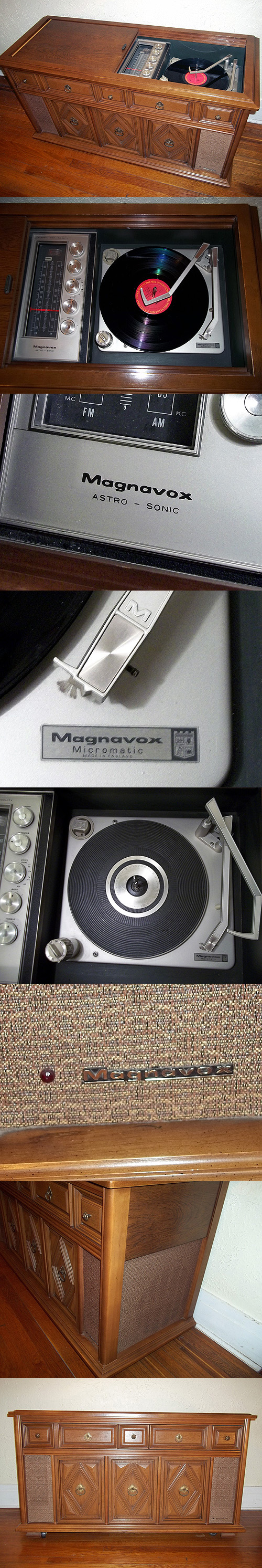 Sold Vtg 1968 Magnavox Astro Sonic Stereo Console Model