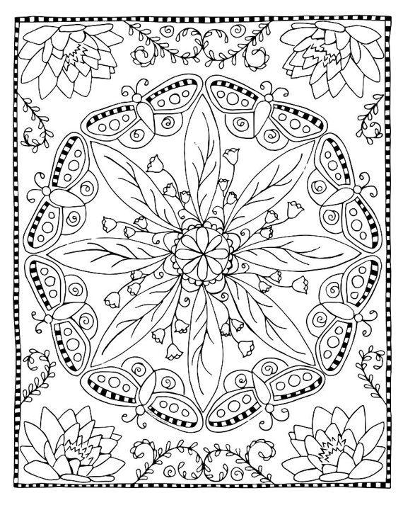 Coloring Page Butterfly Mandala Mandala Coloring Pages Butterfly Mandala Mandala Coloring