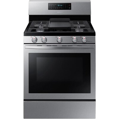 Samsung 5 Burners 5 8 Cu Ft Self Cleaning Convection Freestanding